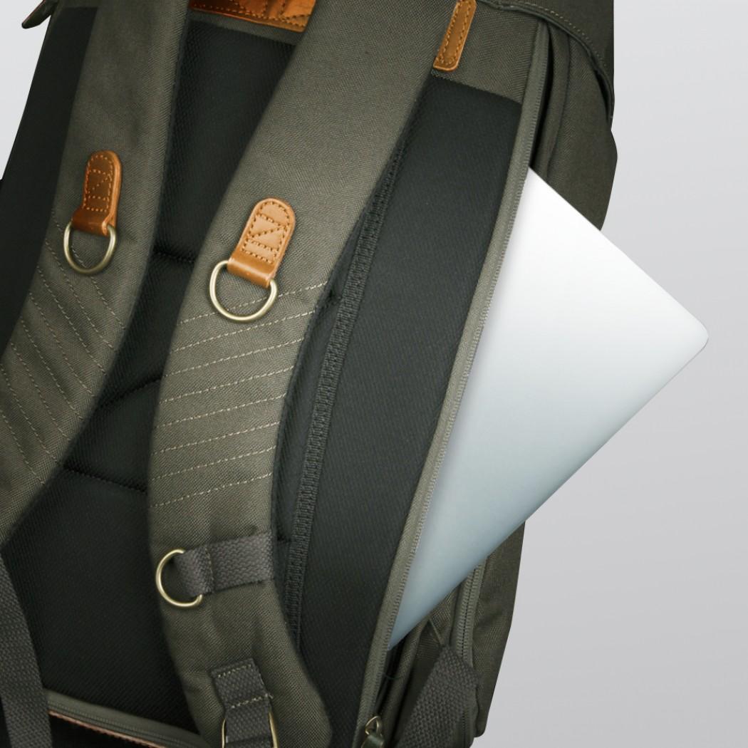 Zkin Yeti Rucksack Laptop Seite
