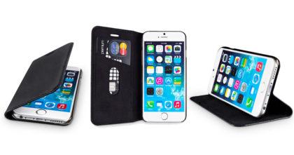 WIIUKA Echt Ledertasche iPhone 7 mit Kartenfach