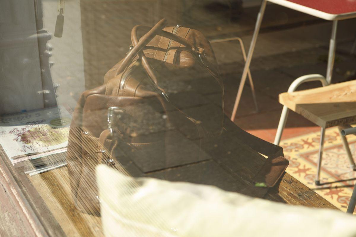 Duffle Bag aus Leder (Braun)